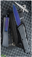 Marfione Combat D/E XHP Core Damascus Blade CF Top & Button