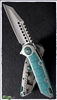 Marfione Custom Warhound Folder Mirror Blade MokuTi inlays SN002