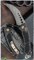 Marfione Custom HAWK CTS-XHP Core Damascus Blade Sting Ray Inlays w/Bronzed Two-Tone Hardware