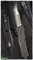 Marfione Custom Combat Troodon Hell Hound Carbon Fiber Top Copper Hardware Takefu Damascus Blade SN003