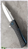 Marfione Custom Closer Carbon Fiber w/ Blued Titanium Hardware Satin Finish Blade