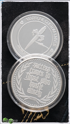 Marfione Custom Hustle Wisely Coin .999 Silver