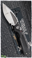 Marfione Custom DOC Killswitch Prototype Stonewash Blade Carbon Fiber Handle Flamed Back Spacer SN003