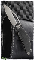 Marfione Custom Matrix Full Size Carbon Fiber Handle Ti Chassis Stonewash Blade SN003