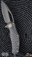Marfione Custom Matrix Full Size Viper Bead DLC Ti/CF Handle Bronze Ti Hardware DLC AP Blade