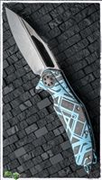 Marfione Custom Matrix Full Size Titanium Trick Handle Mirror Ice Blade