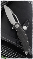 Marfione Custom Mini Matrix-R Ti-CF Handle Two-Tone Stonewash Blade SN003