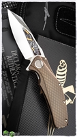 Marfione Custom Mini Matrix High Polish w/ Dragon Motif Engraved Inlay By Jody Muller Bronze Snakeskin Ti Handle Bronze Two-Tone HW 2013
