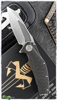 Marfione Custom Mini Matrix Carbon Fiber Stonewash Blade SN003