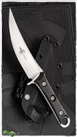 Marfione Custom Borka SBK Prototype Hand Rubbed Satin Blade W/Carbon Fiber Scales SN003