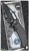 Marfione Custom Mini Matrix-R Carbon Fiber & Titanium DLC Handle DLC Hand Rubbed Satin Blade DLC HW SN003