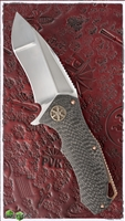 Marfione Custom StarLord Satin Finish Compound Grind Blade 3D Carbon Fiber Chassis Copper Backstrap