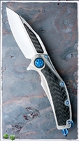 Marfione Custom Super Matrix Titanium Carbon Fiber w/ Blue TI Hardware