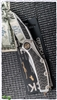 Marfione Custom Super Matrix-R Mirror Polish Blade Satin Titanium Carbon Fiber Inlays w/ Bronzed HW SN003