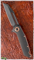 Marfione Warhound Folder DLC AP Blade & Handle w/ Copper Accents