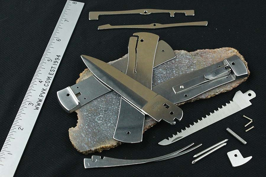 Mikov Predator 241 Leverlock Automatic Knife Kit Camper w/Saw