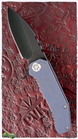 Medford 187F Flipper Black PVD Blade Blue Titanium Handle