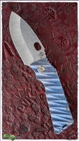 Medford TFF-H Stonewash Blade Sculpted Blue/Purple Ano Handle