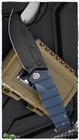 Medford USMC Folder Black PVD Blade Blue Handle