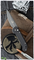 Vintage Marfione/Microtech Custom M UDT Ladder Pattern Damascus 05/2000 SN003