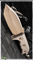 Microtech Currahee Fixed Blade 103-1TA Tan Handle Tan Blade