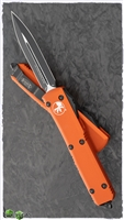Microtech Ultratech D/E 122-1OR Black Blade Orange Handle