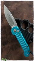 Microtech LUDT 135-10TQ Stonewash Silver Standard Blade Turquoise Handle