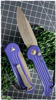 Microtech LUDT LTD Purple Handle Bronzed Blade & Hardware