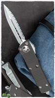 Microtech Troodon D/A 138-12 Stonewash Serrated Double Edge