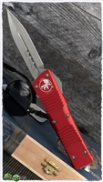 Microtech Combat Troodon D/E 142-10RD Stonewash Blade Red Handle