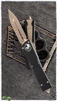 Microtech Combat Troodon D/E 142-13 Black Handle Bronzed Blade & Hardware