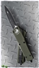 Microtech Combat Troodon 142-1OD  D/E Black Blade OD Green Handle