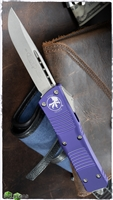 Microtech Combat Troodon S/E 143-10PU Stonewash Blade Purple Handle