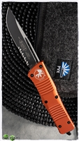 Microtech Combat Troodon S/E 143-2OR Black Serrated Blade Orange Handle