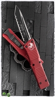 Microtech Combat Troodon T/E 144-3RD Full Serrated Red Handle