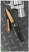 24K Gold UTX-70 D/E Black Chassis 24K Full Serrated Satin Blade