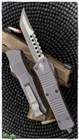 Microtech Combat Troodon 219-10APGYS Hellhound Apocalyptic Blade Gray Handle