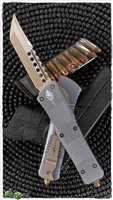 Microtech Combat Troodon 219-13GYS Hellhound Bronze Blade Gray Handle