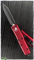 Microtech UTX-85 Spartan 230-1RD Black Blade Red Handle