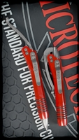 Microtech Siphon II Pen Stainless Red Silver Hardware