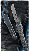 Microtech Ultratech Hell Hound LTD Production CF Top Damascus Blade
