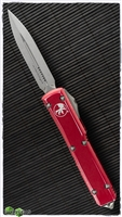 Microtech Ultratech D/E 122-10DRD Apocalyptic Blade Distressed Red