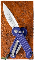 Microtech LUDT 135-4PU Satin Blade Purple Handle