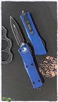 Microtech Troodon D/E 138-1BL Black Blade Blue Handle