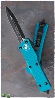 Microtech Troodon D/E 138-1TQ Black Blade Turquoise Handle