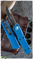 Microtech Troodon T/E 140-1BL Black Blade Blue Handle
