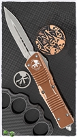 Microtech Combat Troodon D/E 142-10DTA Distressed Tan