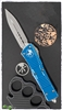 Microtech Combat Troodon D/E 142-10DBL Distressed Blue