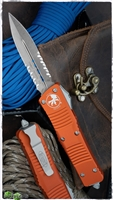 Microtech Combat Troodon D/E 142-11APOR Apocalyptic Serrated Orange Handle