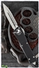 Microtech Combat Troodon D/E 142-12 Stonewash Full Serrated Blade Black Handle